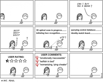 future-of-dating-comic.jpg (420x338 pixels) | Augmented Reality & The Future of the Internet | Scoop.it