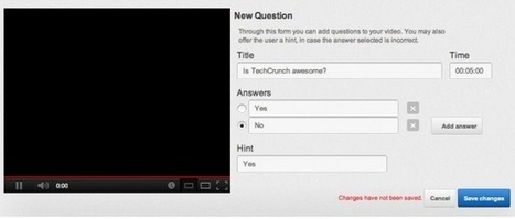 A Great New Feature from YouTube: Add Quizzes to your Videos | ciberpocket | Scoop.it