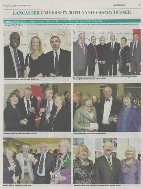 Lancaster Guardian 12,103 readers | Lancaster University 50th anniversary | Scoop.it