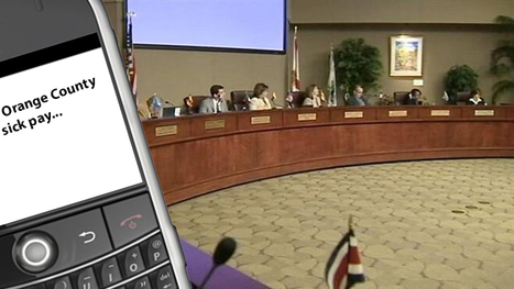 Orange County, Florida commissioners were texting with lobbyists before controversial paid sick time vote (VIDEO) | READ WHAT I READ | Scoop.it