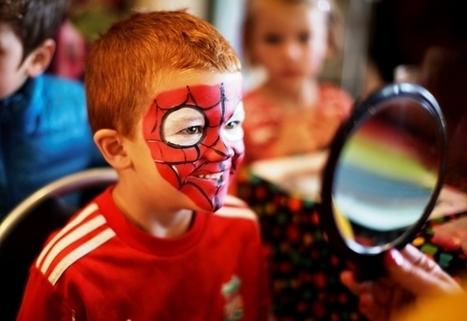 Maquillage de spiderman pour les enfants | Deguisement-de-fete.com | deguisement de fete | Scoop.it