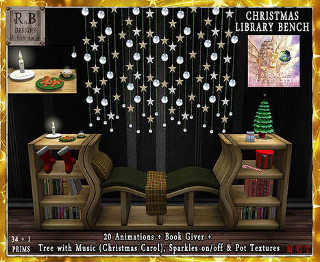 POE5 Hunt Gift ! *RnB* Christmas Library Bench - 20 Anims | scatol8® | Scoop.it