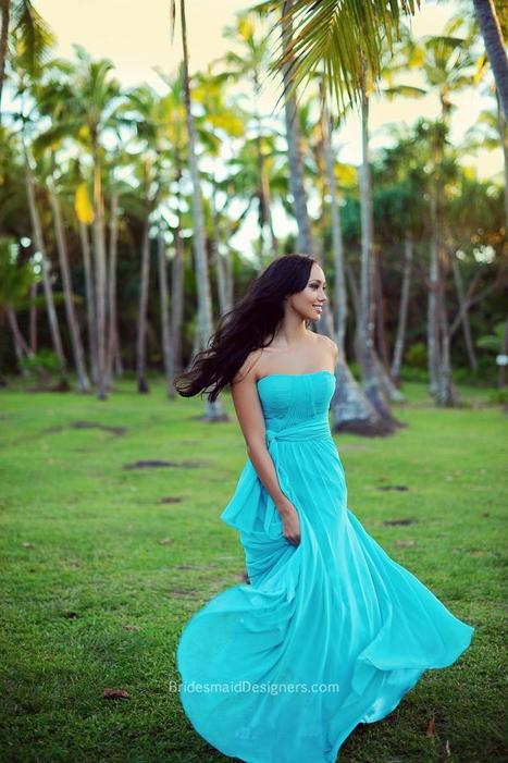 Shop Blue Bridesmaid Dresses & Gowns By Color - BridesmaidDesigners - BridesmaidDesigners | Designer Bridesmaid Dresses 2015 | Scoop.it