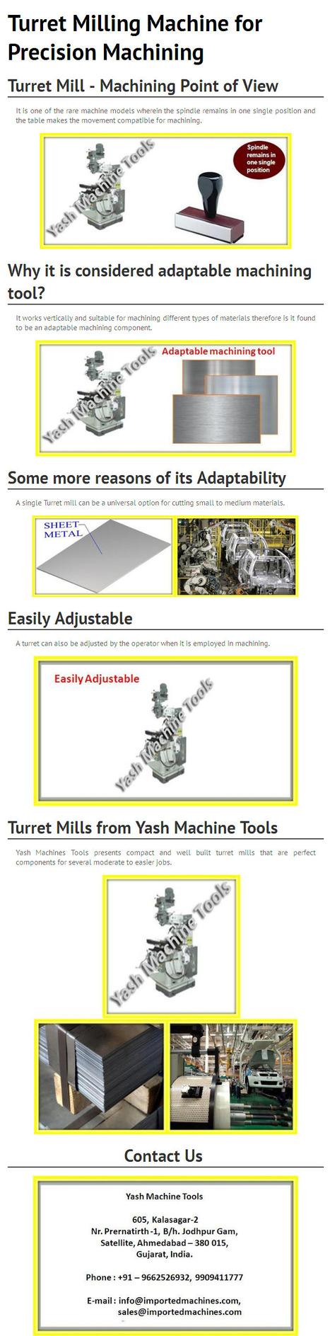 Turret Milling Machine for Precision Machining   Lathe Machines   Scoop.it