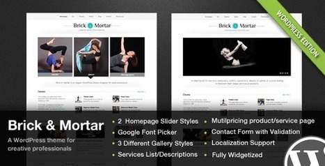 Brick & Mortar - A Personal Business Theme   Medical wordpress themes   Scoop.it