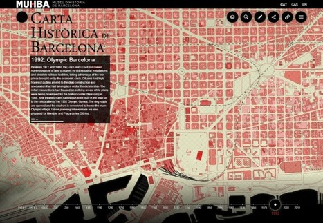 This awesome project maps the urban history of Barcelona - Geoawesomeness | Mr Tony's Geography Stuff | Scoop.it