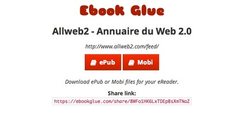 Ebook Glue. Convertir un blog en ebook. | Web2.0 et langues | Scoop.it
