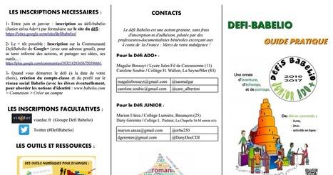 Défi Babelio 2016-2017 : le guide pratique | Ressources & Médiation | Scoop.it