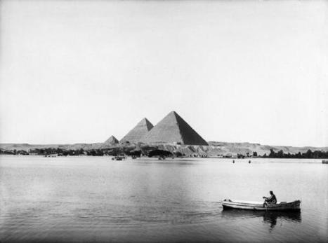 HistoricalPics: The Nile by the Giza Pyramids, ...   Egyptology and Archaeology   Scoop.it