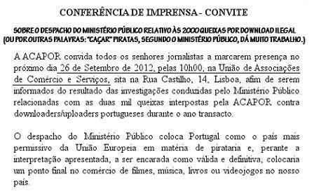 Portugal decide: baixar músicas e filmes não é crime | Cibercultura revolucionária tropical | Scoop.it