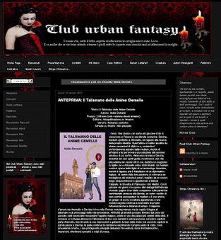 """Stella Demaris, scrittrice e artista: """"Il Talismano delle Anime Gemelle"""" nel blog Club Urban Fantasy   Stella Demaris, """"Il Talismano delle Anime Gemelle"""", fantasy-thriller, e-book e libro cartaceo   Scoop.it"""