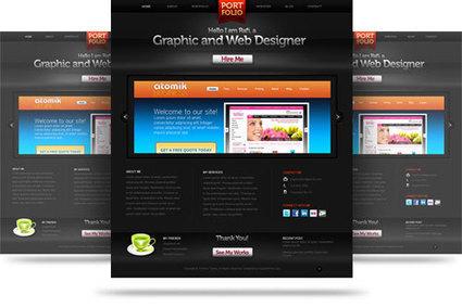 Creative Free PSD Website Templates | creative website templates | Scoop.it