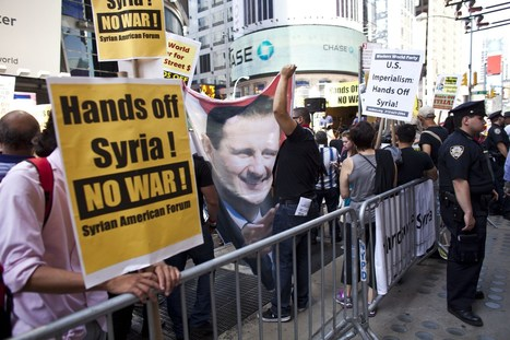 Hundreds Head To Times Square To Protest Military Strike In Syria - CBS New York | Matt's Geography Portfolio | Scoop.it