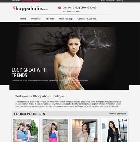 Shoppaholic Template | Web Design And Blogging | Scoop.it