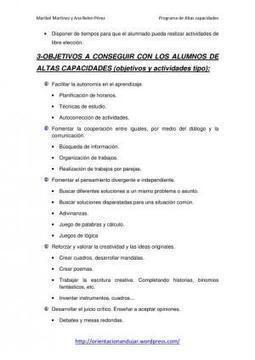 Programa Altas Capacidades OrientaciónAndújar | Altas capacidades | Scoop.it