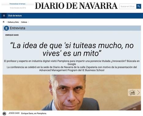 Liderazgo, redes sociales e innovación: entrevista en el Diario de Navarra | Educación a Distancia y TIC | Scoop.it