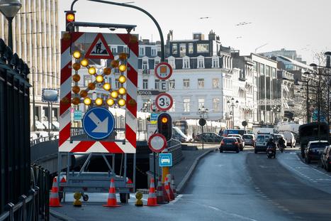 Dès mardi, interdiction aux voitures de traverser les rails de tram à Louise | L'actualité de la Ville de Bruxelles | Scoop.it