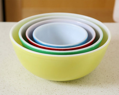 Pyrex Primary Mixing Bowls | whats been spotted on etsy today? | Scoop.it