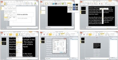 Build your own Teleprompter with PowerPoint | E-Learning Suggestions, Ideas, and Tips | Scoop.it