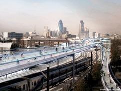 SkyCycle : 220 km de pistes cyclables aériennes en projet à Londres | Le sport en milieu urbain | Scoop.it