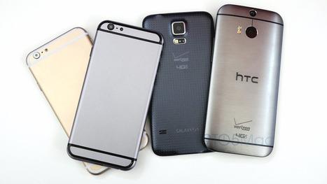 Detailed Space Gray iPhone 6 mockup compared to HTC One M8 and Samsung Galaxy S5 (Video) | Desarollo de productos de Apple | Scoop.it