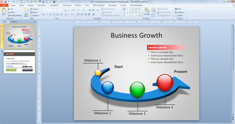 Free Circular Growth PowerPoint Template | i do | Scoop.it