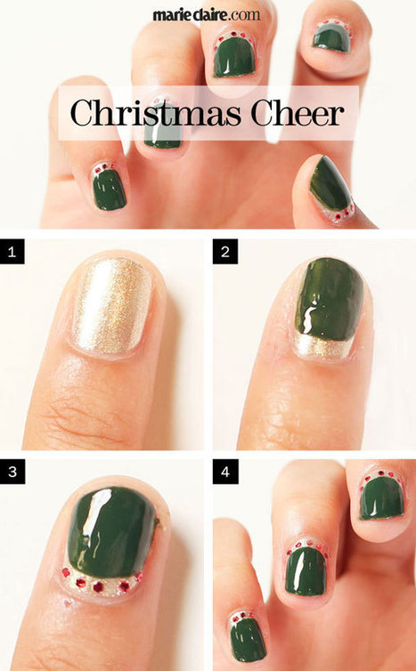 Nail Art How-To: Christmas Cheer   vernis à ongles   Scoop.it