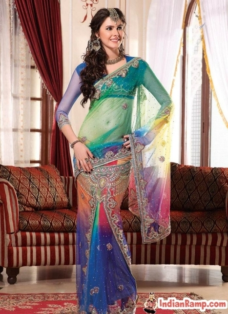 Designer Party Wear Sarees, Wedding Collection Sarees Online 2013 | CHICS & FASHION | Scoop.it