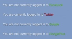 Detect if visitors are logged into Twitter, Facebook or Google+ | Social Media ePower Marketing | Scoop.it
