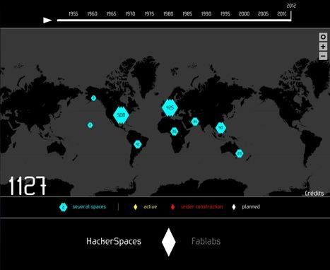 HackerSpaces et FabLabs dans le monde : où sont-ils ? Quelle évolution suivent-ils ? | Cabinet de curiosités numériques | Scoop.it