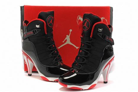 Nike Air Jordan 6Ring Heels Black/White/Red | new and popular list | Scoop.it