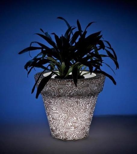 LED Light Pots: Plant a Colorful Glow-