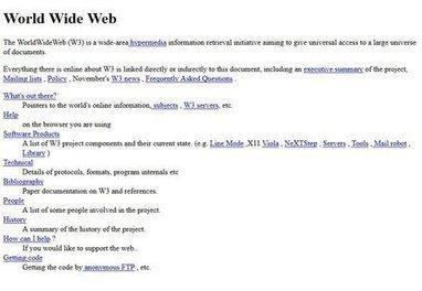 Le premier site web était mis en ligne il y a 25ans | AllMyTech | Scoop.it