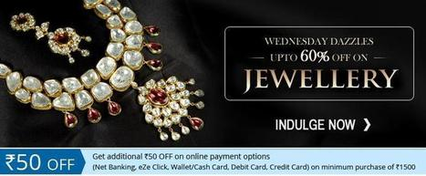 Wednesday Dazzle:Upto 60% off on Jewellery at HS18 | Online Shopping |  Best Deals | Coupons | Scoop.it