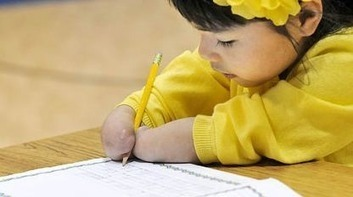 Inspirational: First-Grader with No Hands Wins Penmanship Award | e-Expeditions | e-Expeditions News | Scoop.it