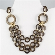 Multi layer bown and gold circles necklace | Spring blowout sale! | Scoop.it