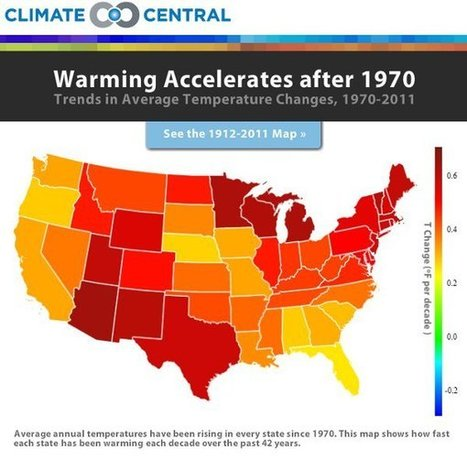 Map of the Day: The State of a Warming America | green infographics | Scoop.it