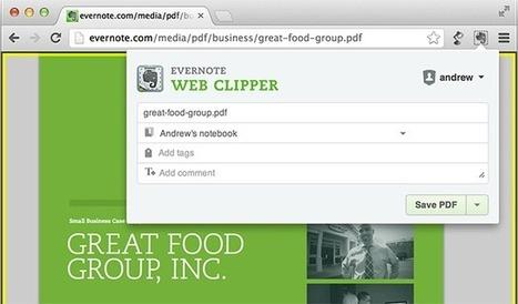 Avec le Web Clipper de Chrome, capturez les PDF que vous voyez en ligne | Evolution et développement | Scoop.it