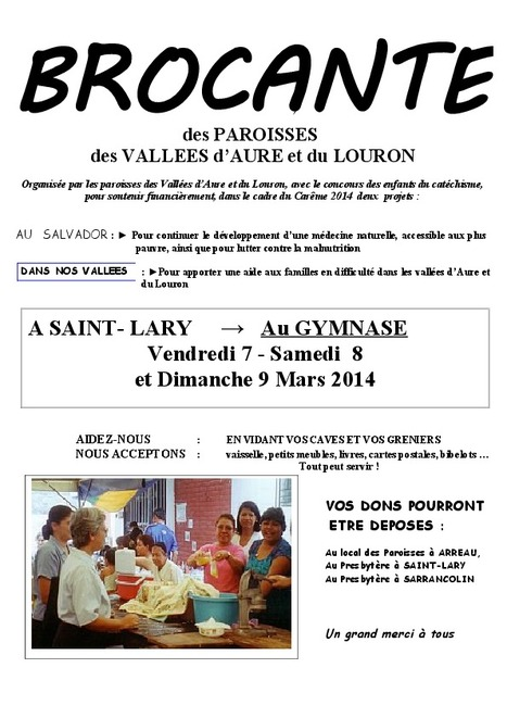 Brocante à Saint-Lary du 7 au 9 mars | Vallée d'Aure - Pyrénées | Scoop.it