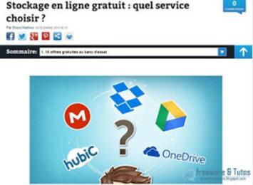 Le site du jour : comparatif de 10 services gratuits de stockage en ligne (cloud) ~ Freewares & Tutos | TIC et TICE mais... en français | Scoop.it
