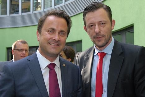 Louis Lang (Recarbon Deutschland GmbH) im Gespräch mit dem Luxemburgischen Premierminister Xavier Bettel | RE|CARBON Deutschland GmbH | Sustainability as risk management | Scoop.it