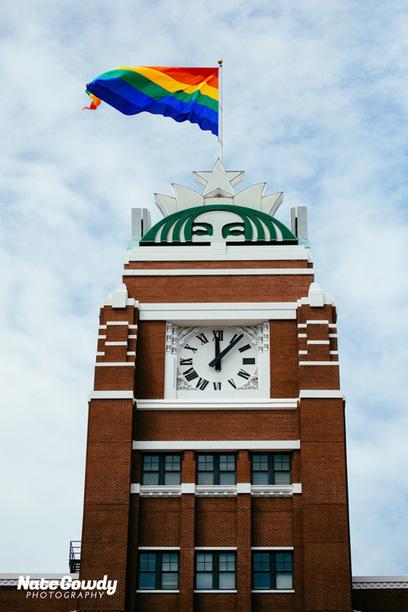 Starbucks Raises Enormous LGBT Pride Flag Over Seattle Headquarters: PHOTOS   Daily Crew   Scoop.it