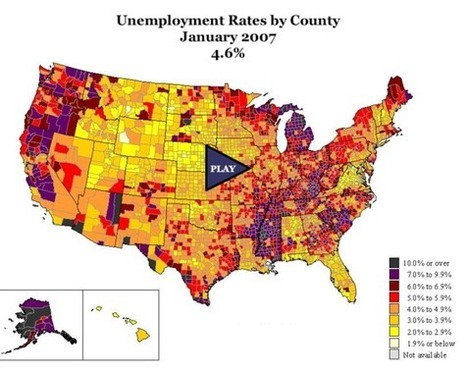Unemployment Rates in the US   Special Purpose Maps   Scoop.it