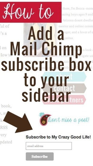 How To Add A Subscribe Button For MailChimp To Your Sidebar - My Crazy Good Life | Blogging tips | Scoop.it