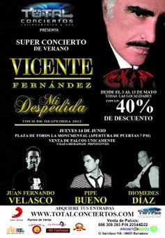Salen a venta las entradas para Vicente Fernández | Mexicanos en Castilla y Leon | Scoop.it