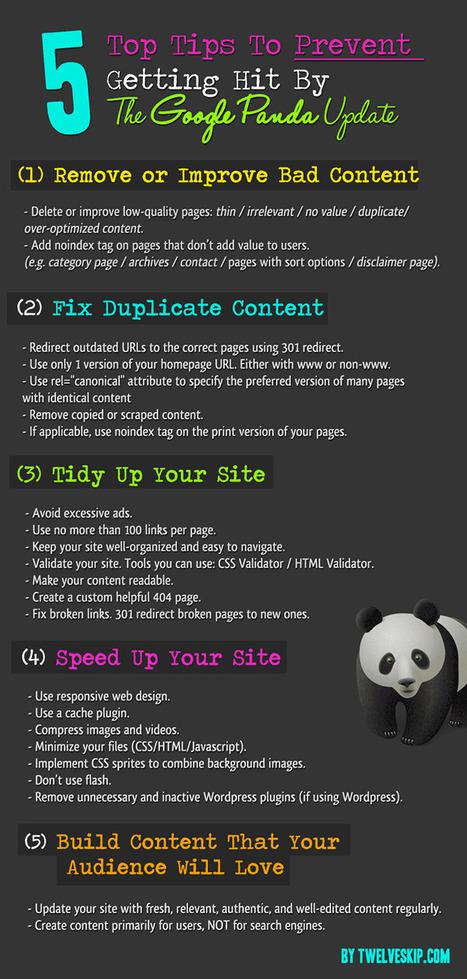 5 Actions pour éviter les pénalités de Google Panda - #Arobasenet | Référencement & e-marketing ! | Scoop.it