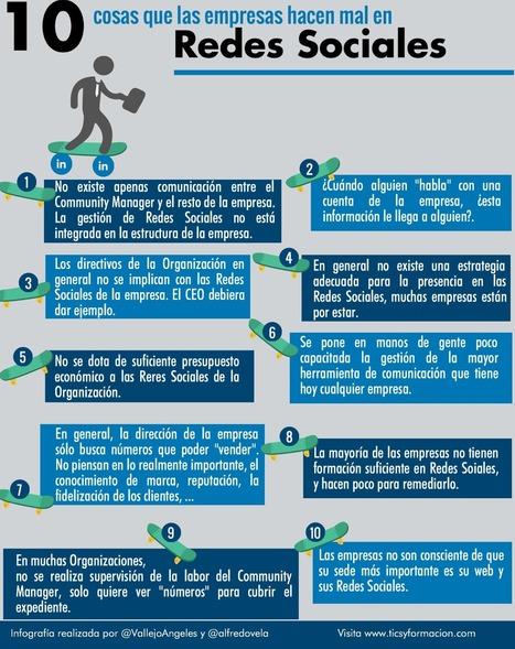 10 cosas que hacen muy mal las empresas en Redes Sociales #infografia #socialmedia   Redes Sociales   Scoop.it