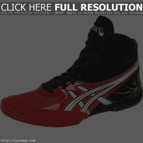 Black And Red Asics Wrestling Shoes Asics Rulon Wrestling Shoes