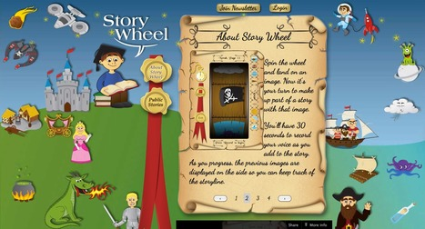 Story Wheel | The iPhone and iPad app for creating stories | Language Nursery School | Scoop.it