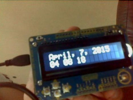 Basic Arduino Time and Date Display | Arduino, Netduino, Rasperry Pi! | Scoop.it